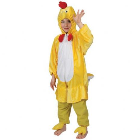 Childrens Unisex Yellow Chick Costume for Easter Baby Chicken Fancy Dress